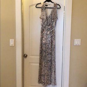 Bebe Leopard Print Jumpsuit Size 0